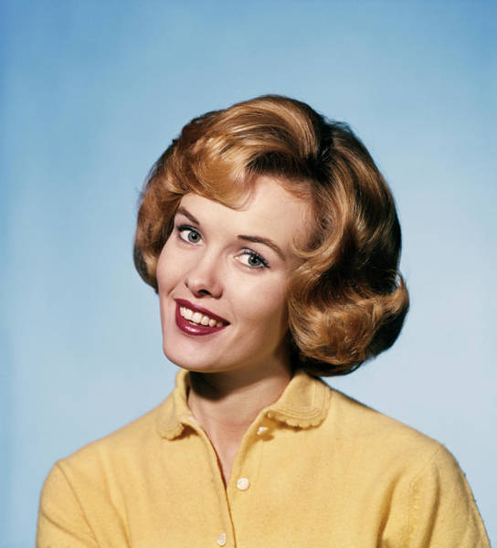 Wall Art - Photograph - 1960s Smiling Blond Woman Wearing by Vintage Images