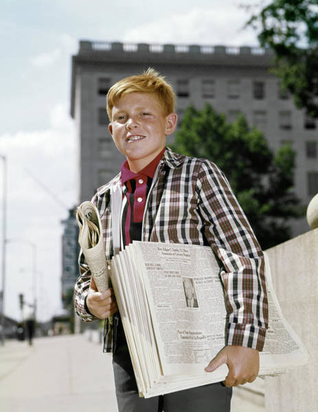 Tabloids Photograph - 1960s Smiling Boy Red Hair Wearing by Vintage Images