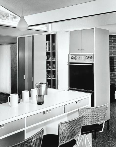 Oven Photograph - 1960's Style Kitchen by Pedro E. Guerrero
