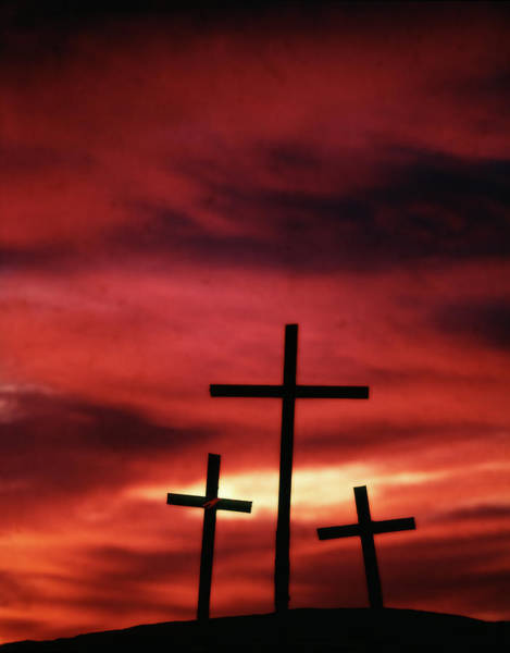 Rood Wall Art - Photograph - 1960s Symbolic Three Crosses Of Calvary by Vintage Images