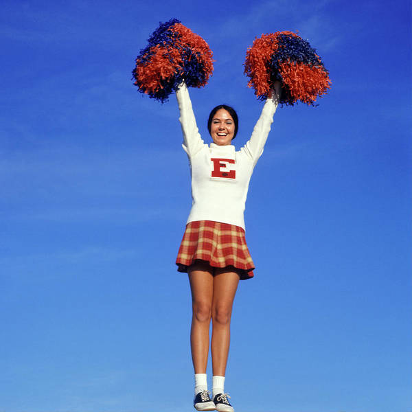 Wall Art - Photograph - 1960s Teenage Girl Cheerleader Full by Vintage Images