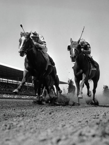 Wall Art - Photograph - 1960s Worms-eye View Of Horse Race by Animal Images