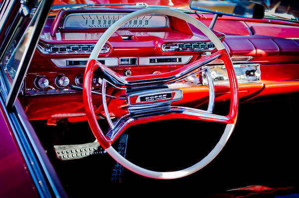 Photograph - 1961 Dodge Phoenix Steering Wheel by Jill Reger