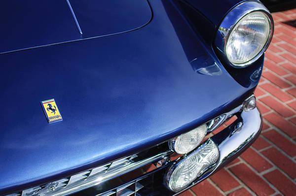 Photograph - 1961 Ferrari 400 Superamerica Swb Coupe Aerodinamico Hood Emblem by Jill Reger