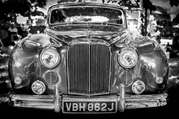Photograph - 1961 Jaguar Mark Ix Saloon Bw by Rich Franco