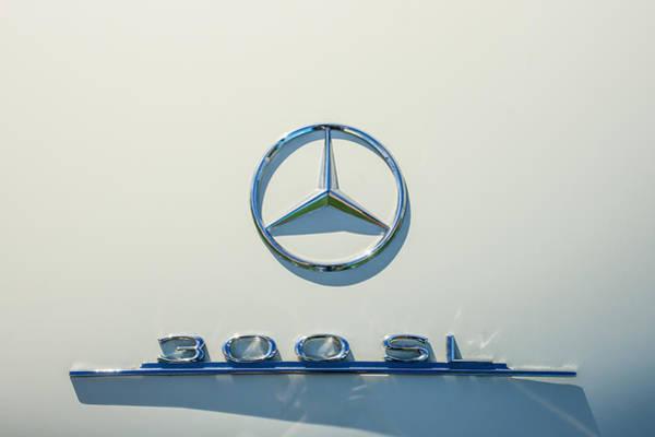 Mercedes-benz 300 Sl Wall Art - Photograph - 1961 Mercedes Benz 300sl Roadster Emblem by Jill Reger