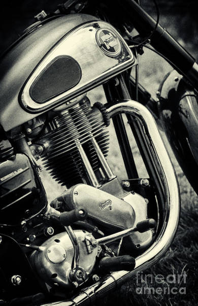 Photograph - 1961 Norton Es2 Motorcycle by Tim Gainey