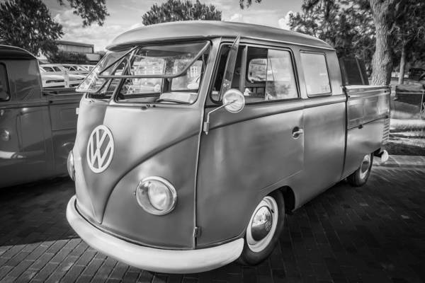 Photograph - 1961 Volkswagen Truck Vw Painted Bw      by Rich Franco