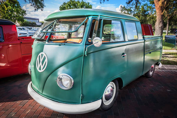 Photograph - 1961 Volkswagen Truck Vw Painted by Rich Franco