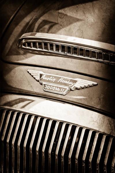 Healey Photograph - 1962 Austin Healey 3000 Mkii Emblem by Jill Reger