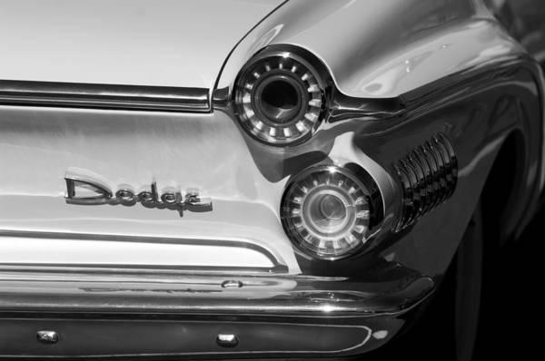 Photograph - 1962 Dodge Dart Taillight Emblem by Jill Reger