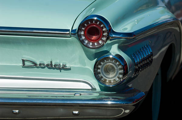 Photograph - 1962 Dodge Dart Taillight by Jill Reger