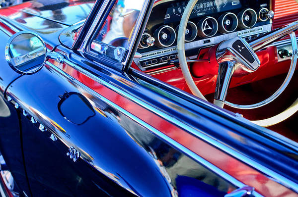 Photograph - 1962 Dodge Polara 500 Steering Wheel by Jill Reger