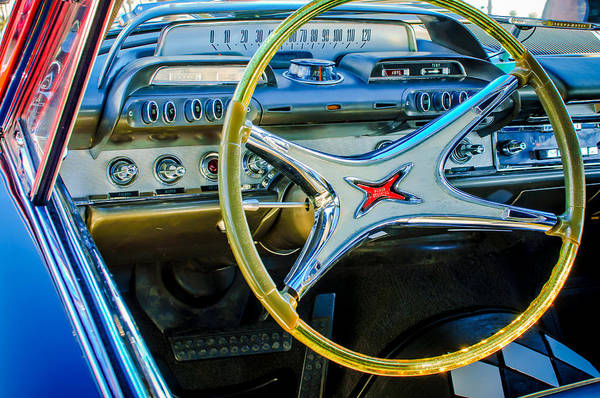 Photograph - 1962 Dodge Polara Steering Wheel -0092c by Jill Reger