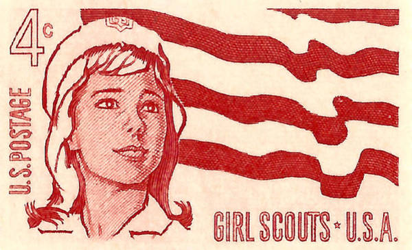 United States Postal Service Photograph - 1962 Girl Scouts Of America Postage Stamp by David Patterson