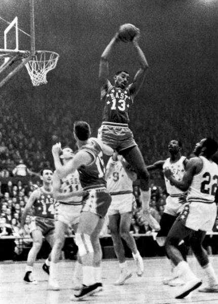 Jumping Photograph - 1962 Nba All-star Game by Underwood Archives