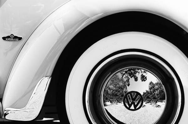 Photograph - 1962 Volkswagen Vw Beetle Cabriolet Wheel Emblem by Jill Reger