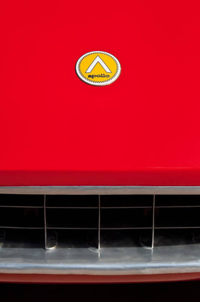 Photograph - 1963 Apollo Gran Tourismo Hood Emblem by Jill Reger