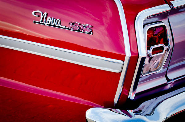 Photograph - 1963 Chevrolet Nova Convertible Taillight Emblem by Jill Reger