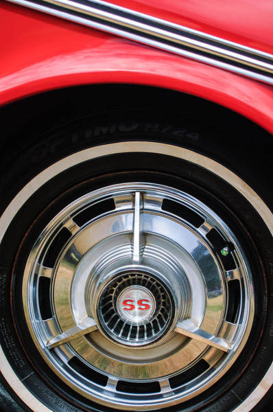 Photograph - 1963 Chevrolet Ss Convertible Wheel Emblem by Jill Reger