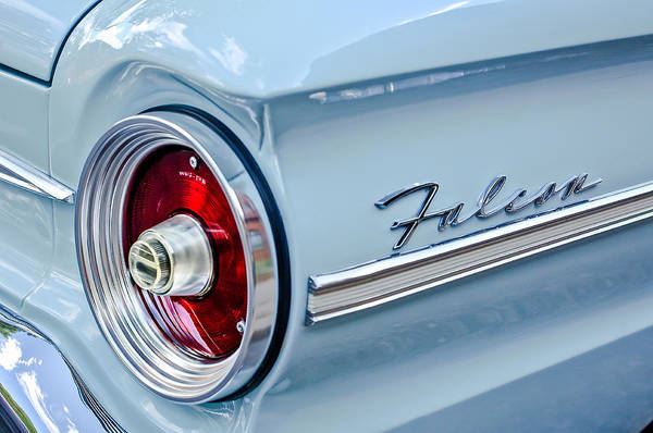 Photograph - 1963 Ford Falcon Futura Convertible Taillight Emblem by Jill Reger
