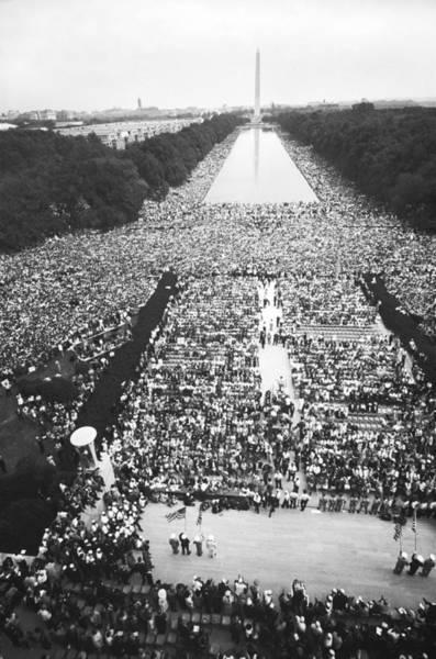 Demonstrators Photograph - 1963 March On Washington by Warren Leffler
