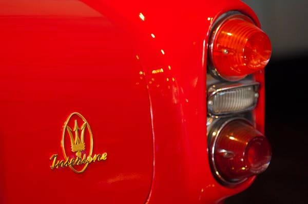 Photograph - 1963 Maserati  Taillight Emblem by Jill Reger