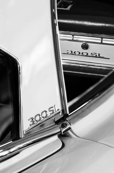 Wall Art - Photograph - 1963 Mercedes-benz 300 Sl Roadster Emblems by Jill Reger