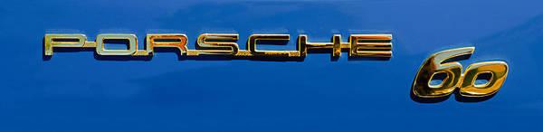 Wall Art - Photograph - 1963 Porsche 356 B 1600 Coupe By Karman Rear Emblem -0756pc by Jill Reger