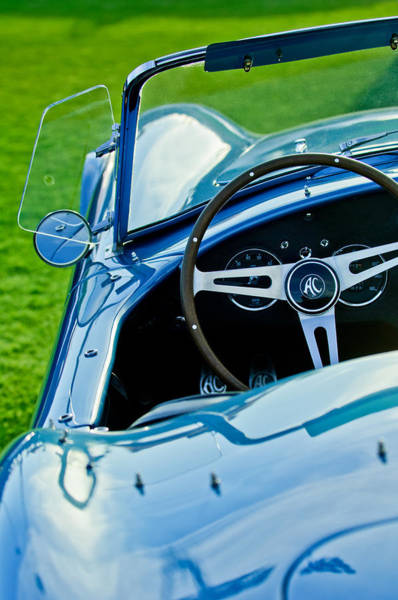 Photograph - 1964 Ac Shelby Cobra 289 Steering Wheel Emblem by Jill Reger
