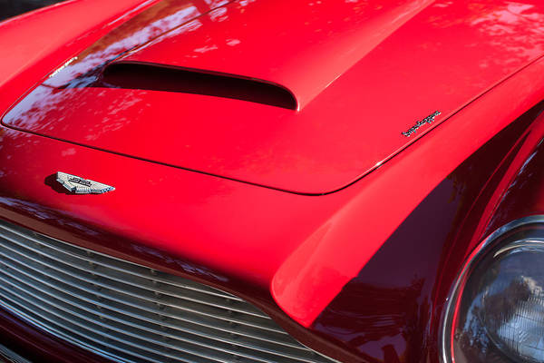 Photograph - 1964 Aston Martin Hood Emblems -0006 by Jill Reger