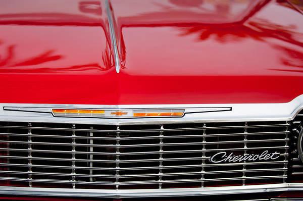 Impala Photograph - 1964 Chevrolet Impala Grille Emblem by Jill Reger