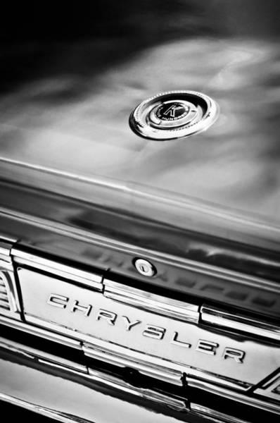Photograph - 1964 Chrysler 300k Convertible Emblem -3529bw by Jill Reger