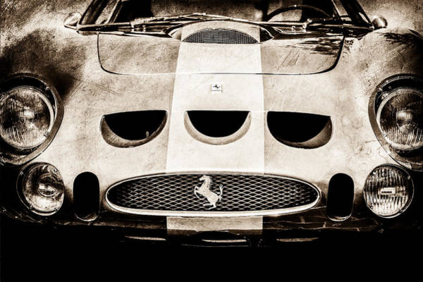 Vintage Ferrari Photograph - 1964 Ferrari 275 Gtb-c Speciale Grille -0959s by Jill Reger