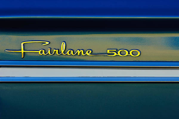 Ford Fairlane Photograph - 1964 Ford Fairlane 500 Emblem by Jill Reger