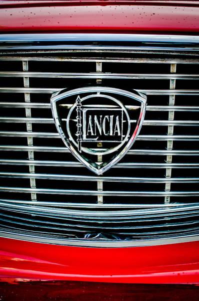 Photograph - 1964 Lancia Flavia Grille Emblem -0105c by Jill Reger