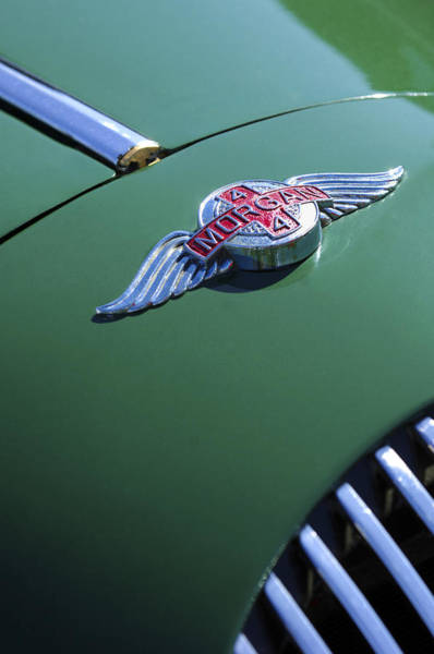 Vintage Hood Ornaments Photograph - 1964 Morgan 44 Hood Ornament by Jill Reger