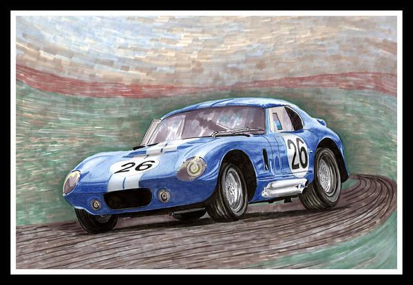 Carroll Shelby Wall Art - Painting - Shelby Daytona 1964 by Jack Pumphrey