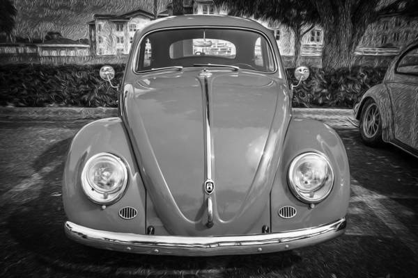 Photograph - 1964 Volkswagen Beetle Vw Bug Bw by Rich Franco