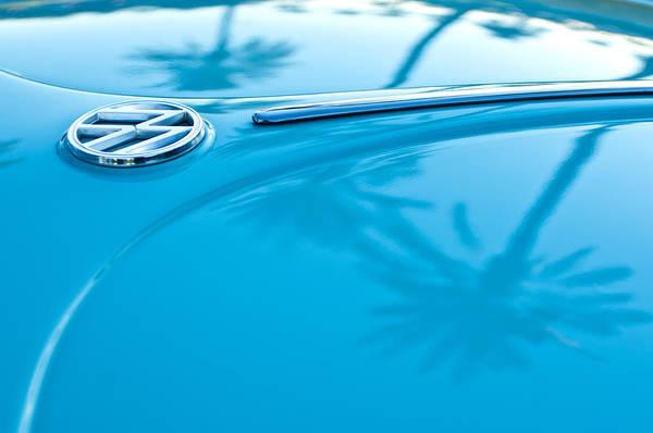 Palm Trees Photograph - 1964 Volkswagen Vw Bug Emblem by Jill Reger