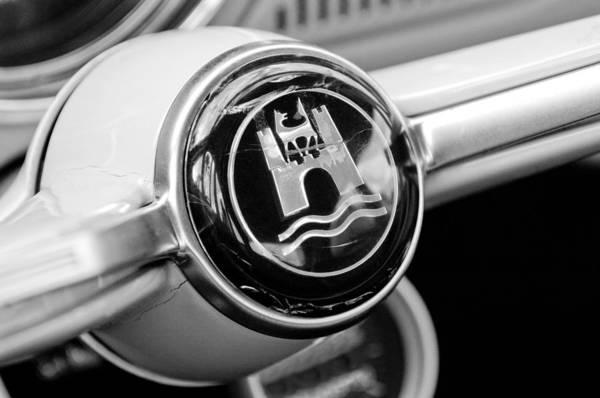 Volkswagen Photograph - 1964 Volkswagen Vw Steering Wheel Emblem by Jill Reger