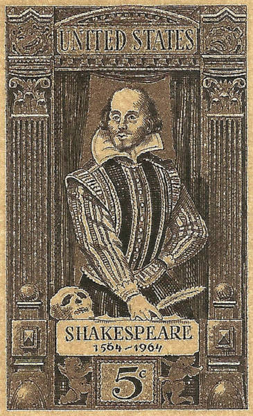 Stamp Collecting Photograph - 1964 William Shakespeare Postage Stamp by David Patterson