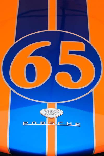 1965 Photograph - 1965 Bobsy-porsche Hood Emblem - 1 by Jill Reger