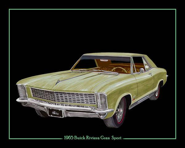 Back Door Painting - 1965 Buick Riviera Gran Sport by Jack Pumphrey