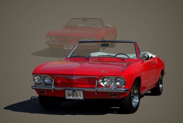 Corvair Photograph - 1965 Chevrolet Corvair Convertible by Tim McCullough