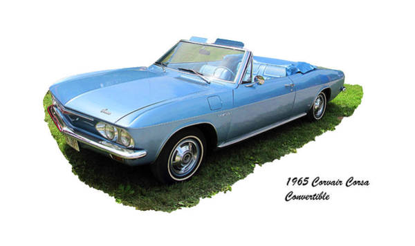 Corvair Photograph - 1965 Corvair Corsa Convertible by C H Apperson
