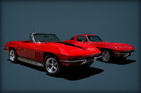 Photograph - 1965 Corvette Convertible And 1964 Corvette Stingray by Tim McCullough