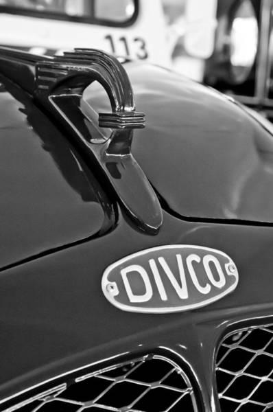 Auto Show Photograph - 1965 Divco Milk Truck Hood Ornament 3 by Jill Reger