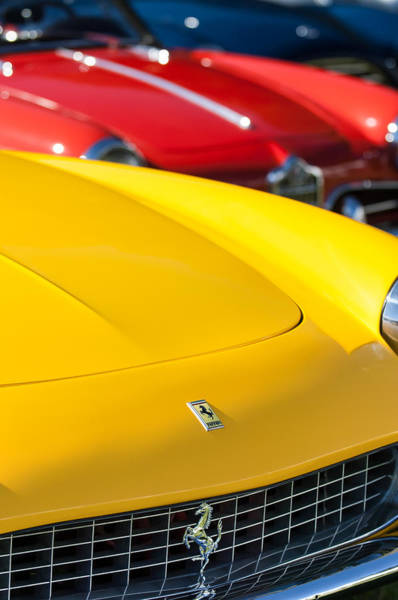 Photograph - 1965 Ferrari 275gts Grille Emblems by Jill Reger