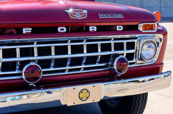 American Car Photograph - 1965 Ford American Lafrance Fire Truck by Jill Reger
